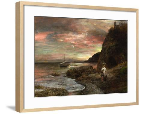 Evening Sun at Posillipo-Oswald Achenbach-Framed Art Print