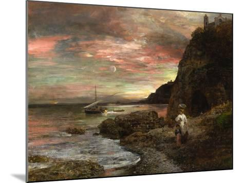 Evening Sun at Posillipo-Oswald Achenbach-Mounted Giclee Print