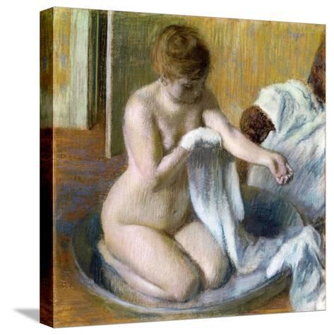Femme Au Tub, Ca. 1883-Edgar Degas-Stretched Canvas Print
