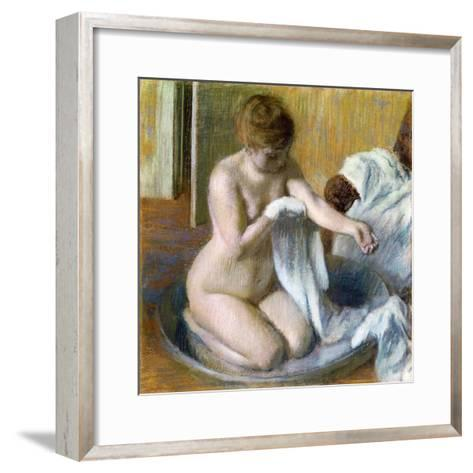 Femme Au Tub, Ca. 1883-Edgar Degas-Framed Art Print