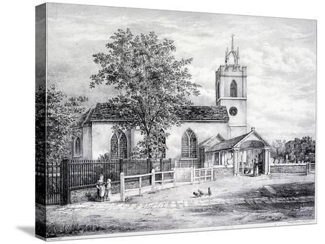 St Giles, Camberwell, London, C1825-Graf and Co Englemann-Stretched Canvas Print