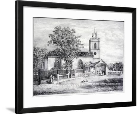 St Giles, Camberwell, London, C1825-Graf and Co Englemann-Framed Art Print