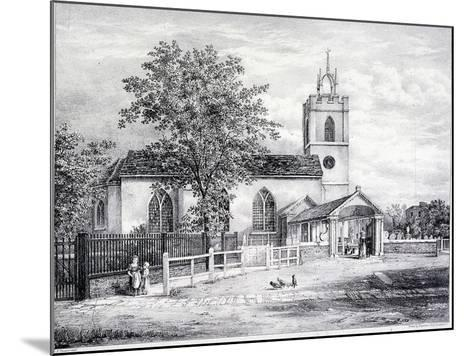 St Giles, Camberwell, London, C1825-Graf and Co Englemann-Mounted Giclee Print