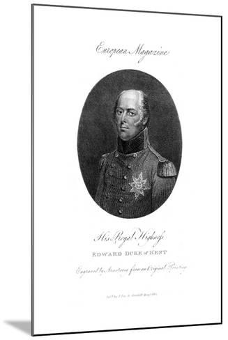 His Royal Highness Edward, Duke of Kent, 1801-Armstrong-Mounted Giclee Print