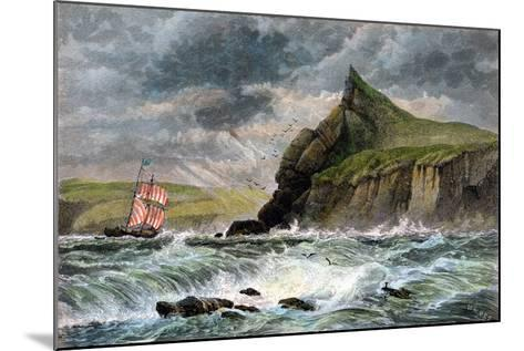 The Entrance to Fowey Harbour, Cornwall, 19th Century--Mounted Giclee Print