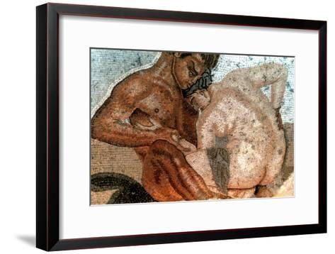 Mosaic of a Satyr and Nymph, House of Faun, Pompeii, Italy--Framed Art Print