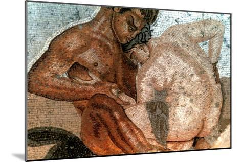 Mosaic of a Satyr and Nymph, House of Faun, Pompeii, Italy--Mounted Giclee Print