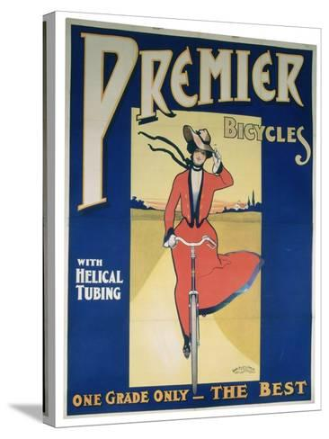 Poster Advertising Premier Bicycles, 20th Century--Stretched Canvas Print