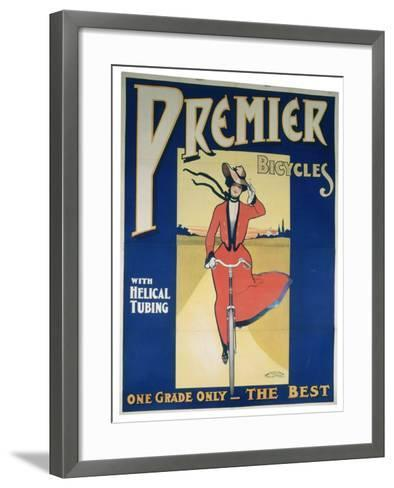 Poster Advertising Premier Bicycles, 20th Century--Framed Art Print