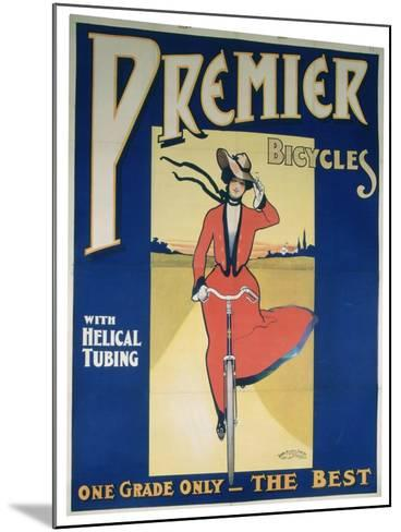 Poster Advertising Premier Bicycles, 20th Century--Mounted Giclee Print