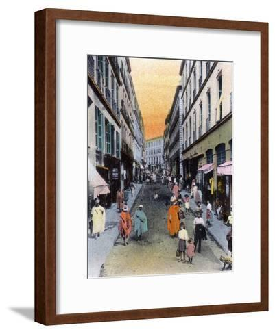 Random Street, Algiers, Algeria, Early 20th Century--Framed Art Print