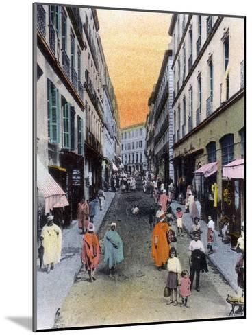 Random Street, Algiers, Algeria, Early 20th Century--Mounted Giclee Print