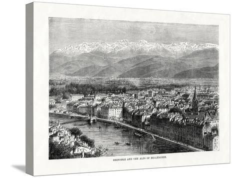 Grenoble and the Alps of Belledonne, France, 1879--Stretched Canvas Print