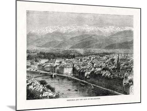 Grenoble and the Alps of Belledonne, France, 1879--Mounted Giclee Print
