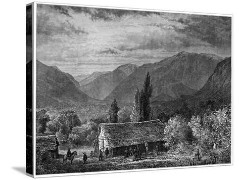 View in a Valley of the Cordillera, Chile, 1877--Stretched Canvas Print