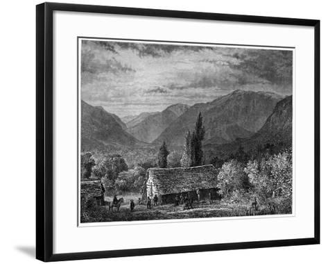 View in a Valley of the Cordillera, Chile, 1877--Framed Art Print