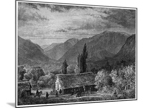 View in a Valley of the Cordillera, Chile, 1877--Mounted Giclee Print