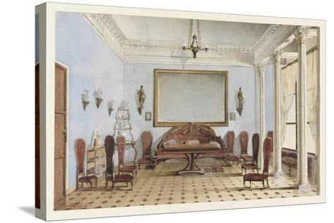 Salon Interior, 1858-Andrei Alexeevich Redkovsky-Stretched Canvas Print