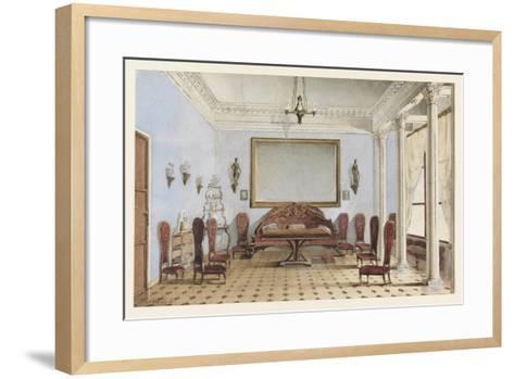 Salon Interior, 1858-Andrei Alexeevich Redkovsky-Framed Art Print