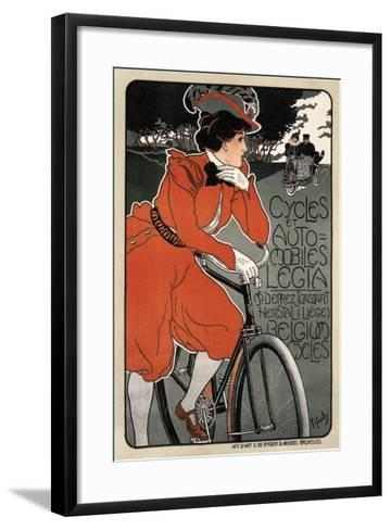 Cycles Automobiles Legia, 1898-Georges Gaudy-Framed Art Print