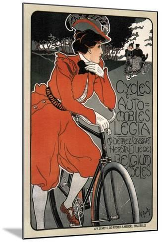 Cycles Automobiles Legia, 1898-Georges Gaudy-Mounted Giclee Print