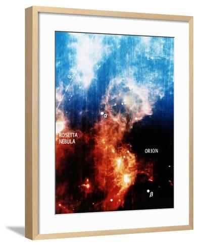 Infra-Red View of Constellation of Orion--Framed Art Print
