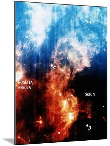 Infra-Red View of Constellation of Orion--Mounted Giclee Print