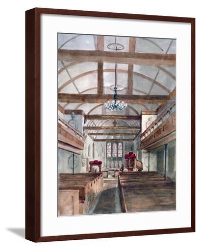 Interior View of St Pancras Old Church, London, 1853--Framed Art Print