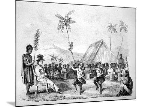 Dance of the Two Children, Hawaii, 19th Century-Ellis -Mounted Giclee Print