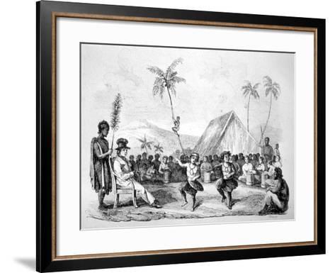 Dance of the Two Children, Hawaii, 19th Century-Ellis -Framed Art Print