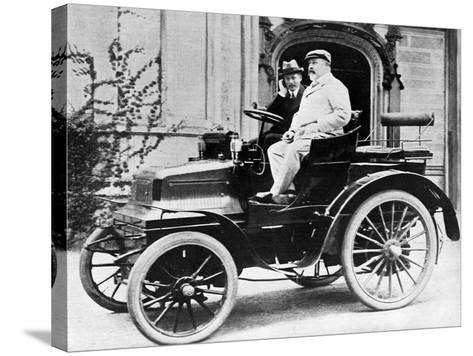 King Edward VII in Lord Montagu's 1899 Daimler 12Hp, 1900--Stretched Canvas Print