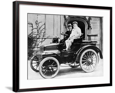 King Edward VII in Lord Montagu's 1899 Daimler 12Hp, 1900--Framed Art Print