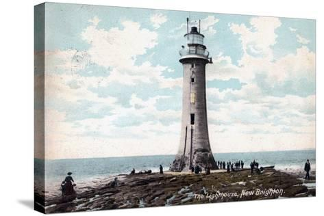Lighthouse at New Brighton, Wirral, Merseyside, 1904--Stretched Canvas Print