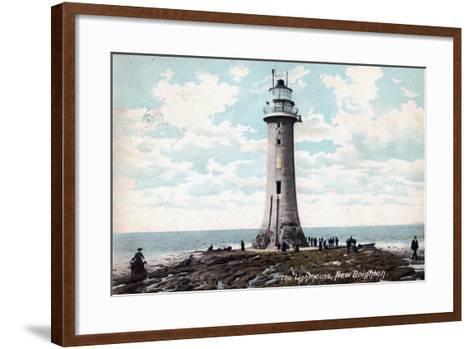 Lighthouse at New Brighton, Wirral, Merseyside, 1904--Framed Art Print