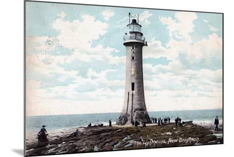 Lighthouse at New Brighton, Wirral, Merseyside, 1904--Mounted Giclee Print