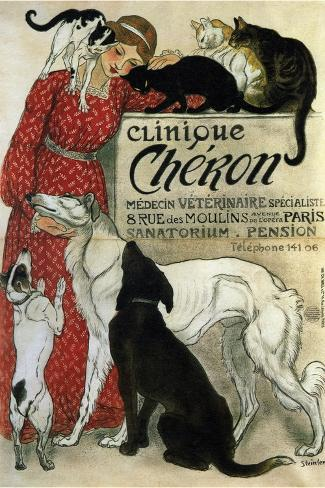 Clinique Ch?ron, 1905-Th?ophile Alexandre Steinlen-Stretched Canvas Print