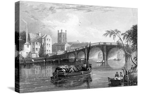 Henley Bridge, Henley-On-Thames, London, 1803--Stretched Canvas Print