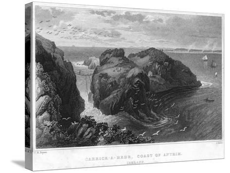 Carrick-A-Rede, Coast of Antrim, Ireland, 19th Century--Stretched Canvas Print
