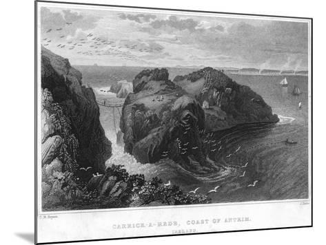 Carrick-A-Rede, Coast of Antrim, Ireland, 19th Century--Mounted Giclee Print