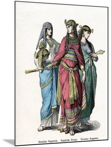 Egyptian Queen and Female Attendants, Mid 19th Century--Mounted Giclee Print