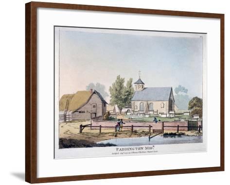 View of St Mary's Church, Paddington, London, 1791--Framed Art Print