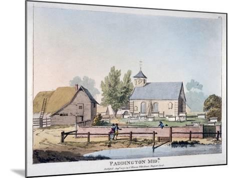 View of St Mary's Church, Paddington, London, 1791--Mounted Giclee Print