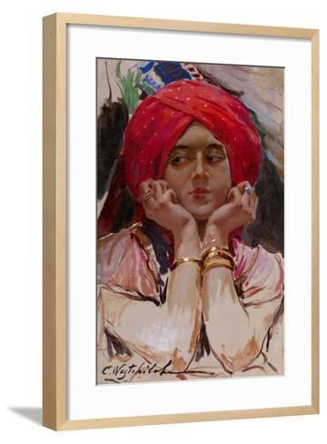 The Persian Princess-Konstantin Alexandrovich Veshchilov-Framed Art Print