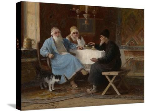 Conversation, 1909-Ivan Andreyevich Pelevin-Stretched Canvas Print