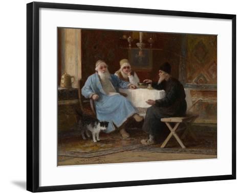 Conversation, 1909-Ivan Andreyevich Pelevin-Framed Art Print