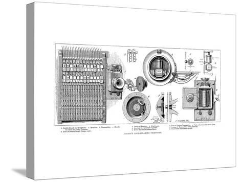 Edison Carbon Telephone, 1879--Stretched Canvas Print