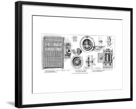Edison Carbon Telephone, 1879--Framed Art Print