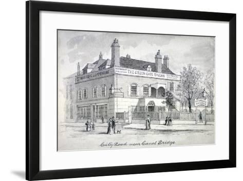 View of the Green Gate Tavern, City Road, Finsbury, C1850--Framed Art Print