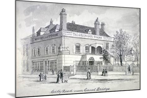 View of the Green Gate Tavern, City Road, Finsbury, C1850--Mounted Giclee Print