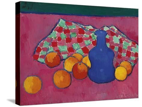 Blue Vase with Oranges, 1908-Alexei von Javlensky-Stretched Canvas Print